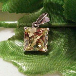 Jewelry - SIMULATED CANARY YELLOW DIAMOND PENDANT